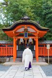 Abbot walk at fushimi inari taisha shrine the one of attraction landmarks for tourist in Kyoto. KYOTO, JAPAN - NOVEMBER 28, 2016 : Abbot walk at fushimi inari Stock Photo