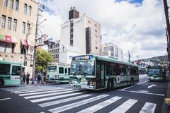 Japan bus royalty free stock image