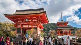 The Entry to the very popular Kiyomizu-dera Buddhist Temple, Kyoto, Japan. Kyoto, Japan -November 2, 2018: The Entry to the very popular Kiyomizu-dera Buddhist stock image