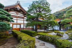 Kyoto, Japan - November 20 2013: Ginkaku-ji is a Zen temple offi Royalty Free Stock Photos