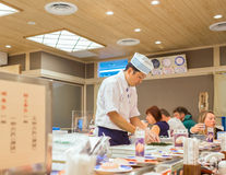 KYOTO, JAPAN - NOVEMBER 1: Japanese Chef in Kyoto, Japan on Nove Royalty Free Stock Photos