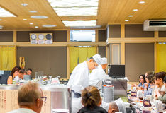 KYOTO, JAPAN - NOVEMBER 1: Japanese Chef in Kyoto, Japan on Nove Royalty Free Stock Photos