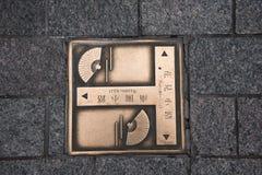 KYOTO JAPAN - NOVEMBER 25: Japansk teckenväg i det Gion området på inget Fotografering för Bildbyråer