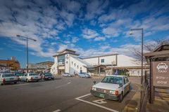 Kyoto, Japan - November 28,2015 : JR Uji Station in Kyoto, Japan royalty free stock photography