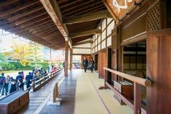 Kyoto, Japan - November 17, 2017 :Tourists visit Tenryuji temple. Is the famous zen temple in Kyoto, Japan Stock Photo