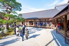 Kyoto, Japan - November 17, 2017 :Tourists visit zen garden in a. Utumn season at Tenryuji temple, Kyoto, Japan Stock Photo