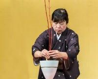 Kyoto, Japan - November 18 2013: Unidentified senior Japanese wo Royalty Free Stock Photo