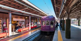 KYOTO, JAPAN - NOVEMBER 7, 2017: View of the railway station. Co. Py space for text Royalty Free Stock Photos