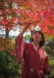 KYOTO, JAPAN - November, 18, 2014: Young japanese girl Royalty Free Stock Photography