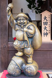 Kyoto, Japan novemer 24, 2016: The Ebisu brass statue in Kiyomiz. U-dera Temple, kyoto, Japan. Ebisu is iconic Japanese God of Good Luck and  one of The Seven Stock Images