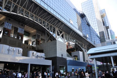 KYOTO, JAPAN - OCT 27: Kyoto Station is Japan's 2nd largest trai Royalty Free Stock Photo