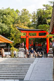 KYOTO, JAPAN - OCT 30 : Tourists at Fushimi Inari Shrine on Octo Stock Image