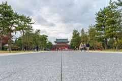 KYOTO, JAPAN - OCTOBER 08, 2015: The Heian Shrine is a Shinto shrine located in Sakyo-ku, Kyoto, Japan. The Shrine is ranked as a. The Heian Shrine is a Shinto Stock Images