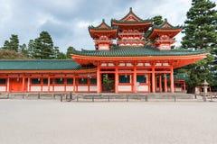 KYOTO, JAPAN - OCTOBER 08, 2015: The Heian Shrine is a Shinto shrine located in Sakyo-ku, Kyoto, Japan. The Shrine is ranked as a. The Heian Shrine is a Shinto Stock Photo