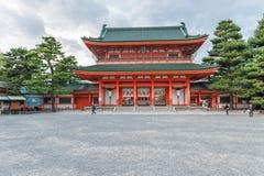 KYOTO, JAPAN - OCTOBER 08, 2015: The Heian Shrine is a Shinto shrine located in Sakyo-ku, Kyoto, Japan. The Shrine is ranked as a. The Heian Shrine is a Shinto Stock Image