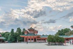KYOTO, JAPAN - OCTOBER 08, 2015: The Heian Shrine is a Shinto shrine located in Sakyo-ku, Kyoto, Japan. The Shrine is ranked as a. The Heian Shrine is a Shinto Royalty Free Stock Photography