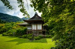 Japanese House Shrine Okochi Sanso Botanical Japanese Garden royalty free stock photography