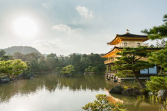 KYOTO, JAPAN - OCTOBER 09, 2015: Kinkaku-ji Temple of the Golden Pavilion officially named Rokuon-ji. Deer Garden Temple is a Zen Stock Photo