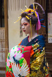 KYOTO, JAPAN - OCTOBER 12, 2015 : Maiko, Apprentice geisha, in K Stock Photo
