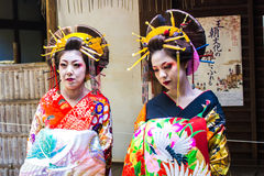 KYOTO, JAPAN - OCTOBER 12, 2015 : Maiko, Apprentices geisha Royalty Free Stock Images