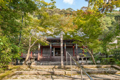KYOTO, JAPAN - OCTOBER 08, 2015: Old Shrine and garden with tree in Kyoto, Japan. Royalty Free Stock Photography