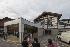 Kyoto, Japan - October 4, 2016: Saga-Arashiyama Station, JR, Kyoto, Japan. Saga-Arashiyama Station is a railway station on the West Japan Railway Company Sanin Stock Photos