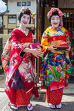 smiling Maiko, Apprentices geisha Royalty Free Stock Photography
