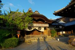 Temple in evening light Kyoto Japan Royalty Free Stock Image