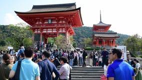 Tourists at the Fushimi Inari-taisha in Kyoto,. Kyoto, Japan: October 17, 2018: Tourists at the Fushimi Inari-taisha in Kyoto, Japan. Fushimi Inari Shrine is a stock video footage