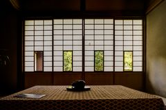 Japanese Temple Unryu in kyoto royalty free stock photo