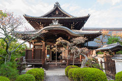 KYOTO, JAPAN - OCTOBER 08, 2015: Zen Buddhist shrine temple in Kyoto, Japan. With Garden and Tree. Stock Photography