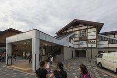 Kyoto, Japan - Oktober 4, 2016: Saga-Arashiyama Post, JR, Kyoto, Japan stock foto's