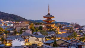 Kyoto, Japan Old Town Cityscape stock video footage