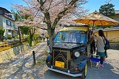 Kyoto, Japan at Philosopher's Walk in the Springtime. Stock Photos