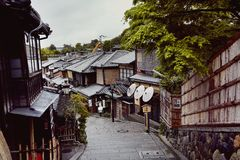 Kyoto, Japan on a quiet, Spring day. royalty free stock photography