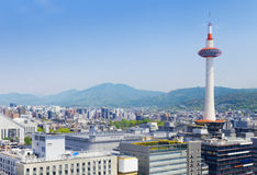 Kyoto, Japan skyline at Kyoto Tower. Royalty Free Stock Photos