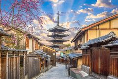 Kyoto, Japan Old Town in Spring Royalty Free Stock Photo