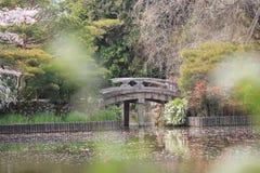 Kyoto, Japan springtime at Ryoanji Temple& x27;s pond. The Kyoto, Japan springtime at Ryoanji Temple& x27;s pond Royalty Free Stock Photography