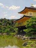 View of the majestic Kinkaku-ji Golden Pavillon temple in Kyoto stock photo
