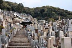 Kyoto - japansk kyrkogård Arkivfoton