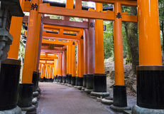 Kyoto, Japon au tombeau de Fushimi Inari Photo libre de droits