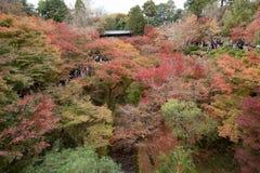 KYOTO, JAPON - 28 NOVEMBRE 2015 : Beaucoup de touristes visitent le Tofukuji Photographie stock libre de droits