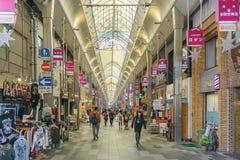 Kyoto Japonia, Grudzień, - 2, 2015: Teramachi dori Nishiki ulica ja Obraz Stock