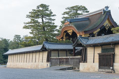 KYOTO JAPONIA, Jan 11 2015, -: Kyoto Gyoen ogród sławny Histori obraz royalty free