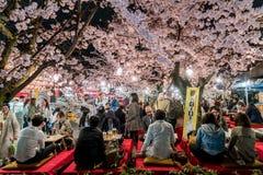 KYOTO JAPONIA, KWIECIEŃ, - 7, 2017: Japonia tłoczy się cieszy się wiosnę Cher zdjęcia royalty free