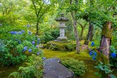 KYOTO JAPONIA, LIPIEC, - 05, 2017: Piękna drylująca struktura wśrodku Zen ogródu Tenryu-ji, Nadziemska smok świątynia W Zdjęcie Stock