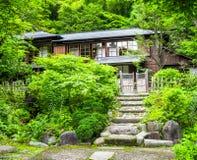 KYOTO JAPONIA, LIPIEC, - 05, 2017: Piękny i stylizowany japanesse dom w Kyoto Obraz Stock