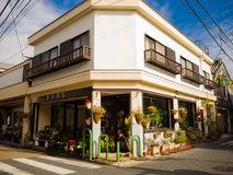KYOTO JAPONIA, LIPIEC, - 05, 2017: Piękny widok dowtown miasto Osaka blisko Dotonbori teren Zdjęcia Stock