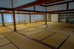 KYOTO JAPONIA, LIPIEC, - 05, 2017: Pokój zakrywający z tatami matą przy Tenryu-ji dalej w Kyoto Obraz Royalty Free