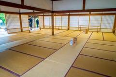 KYOTO JAPONIA, LIPIEC, - 05, 2017: Pokój zakrywający z tatami matą przy Tenryu-ji dalej w Kyoto Obraz Stock